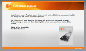 ZDF Fehlerseite